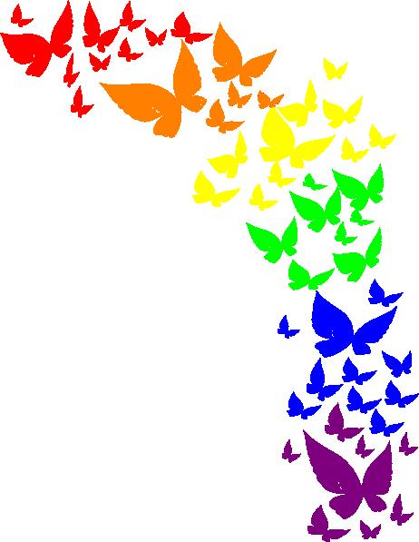 Rainbow Butterfly Clip Art At Clker Com Vector Clip Art