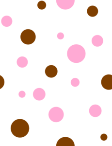 Brown & Pink Polka Dots Clip Art at Clker.com - vector ...