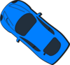 Blue Car - Top View - 140 Clip Art