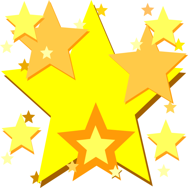 yellow stars clip art at clkercom vector clip art
