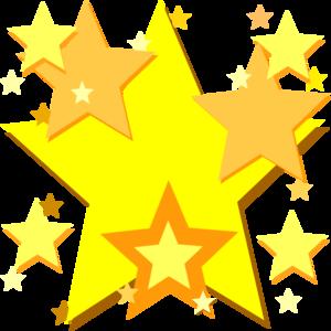 yellow stars clip art at clker com vector clip art online rh clker com hollywood star clipart Hollywood Walk of Fame Clip Art