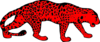Red Leopard, Right Facing Clip Art