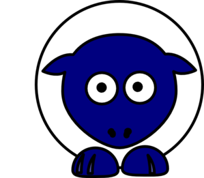Sheep White Body Blue Face Clip Art