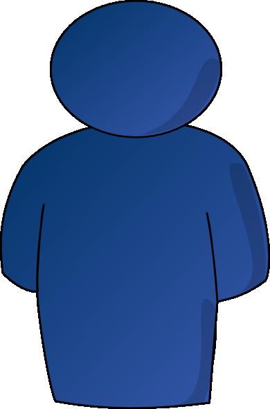 Person Buddy Symbol Blue Gradient Clip Art At Clker Com