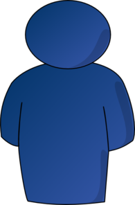 Person Buddy Symbol Blue Gradient Clip Art