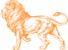 Orange Lion 1 Clip Art