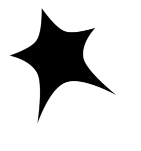 Black Star White Outline Clip Art