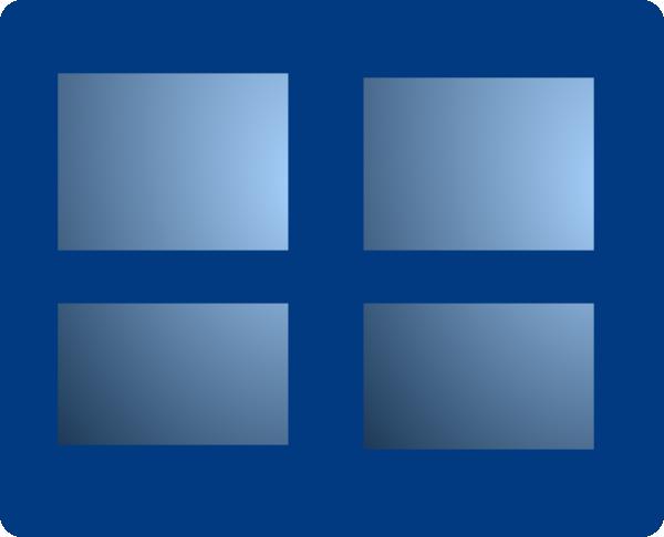 Closed Blue Window Clip Art at Clkercom vector clip art online