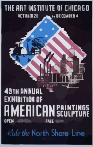 49th Annual Exhibition Of American Paintings Sculpture Ride The North Shore Line / M. Waltrip. Clip Art