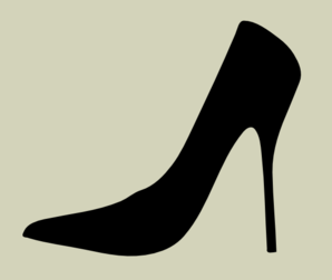 High Heel Silhouette With Cream Background Clip Art