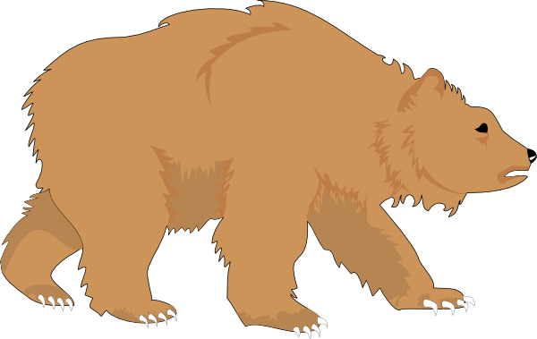 Cute grizzly bear clipart - photo#18