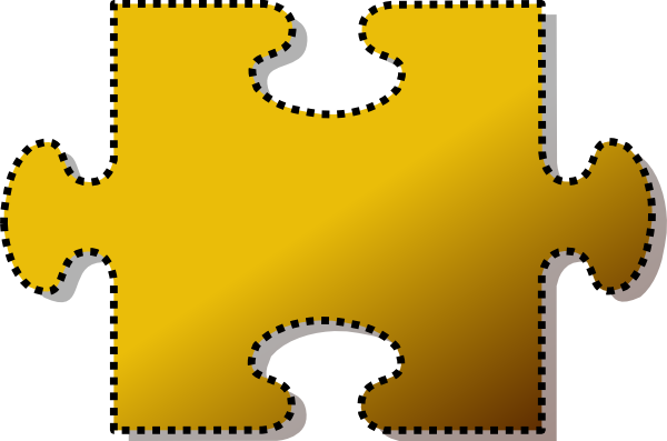 Jigsaw Yellow Puzzle Piece Cutout Clip Art At Clker