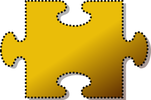 Jigsaw Yellow Puzzle Piece Cutout Clip Art