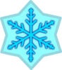 Blue Snow Flake Clip Art