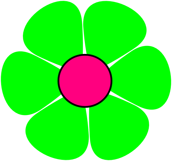 Green Flower Clip Art at Clker.com - vector clip art online, royalty ...