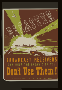 Disaster Broadcast Receivers Can Help The Enemy Sink You : Don T Use Them! / Etg. Clip Art