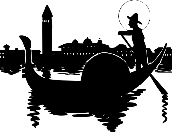 gondola silhouette clip art at clker com vector clip art online rh clker com gondola clipart Venice Clip Art
