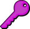 Purple Key Clip Art