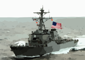 The Guided Missile Destroyer Uss Mcfaul (ddg 74) Is Shown Underway. Clip Art