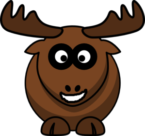 Smiling Moose Clip Art