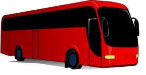 Red Bus Coach Clip Art