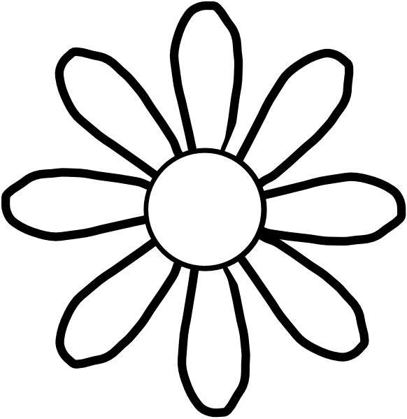 white flower clip art at clkercom vector clip art