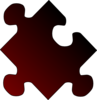 Puzzle Gradient Red-black Clip Art
