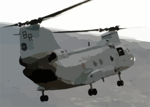 A Ch-46 Sea Knight From Helicopter Combat Support Squadron Eight (hc-8) Picks Up Another Load Of Supplies Clip Art