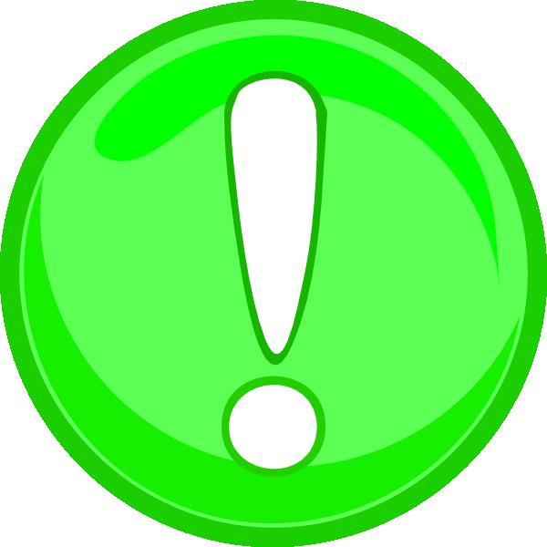 green caution icon clip art at clkercom vector clip art