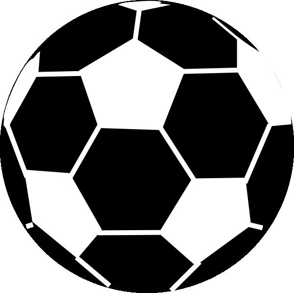 black and white soccer ball clip art at clkercom vector