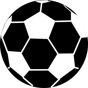 Black And White Soccer Ball Clip Art