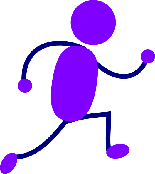 Purple Running Man Clip Art at Clker.com - vector clip art online ...