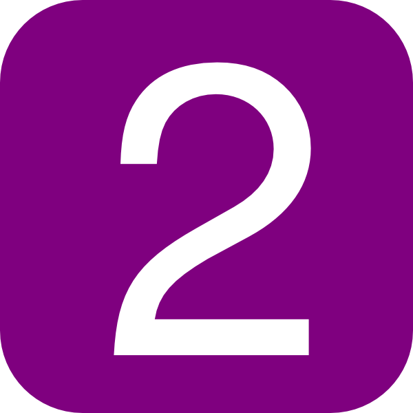 Red  Rounded  Square With Number 1 clip artNumber 2 Clipart Purple