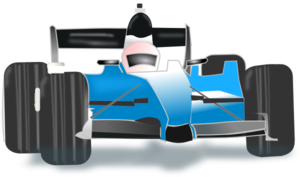 Blue Race Car Clip Art