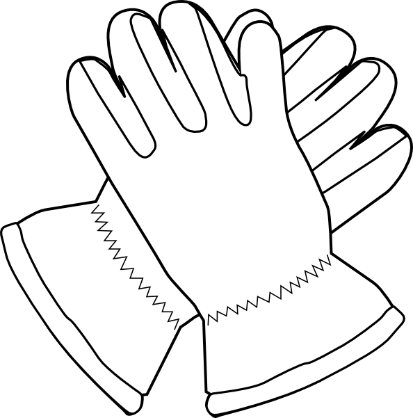 Gloves Outline Clip Art at Clker.com - vector clip art online, royalty ...