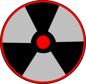 Red Atomic Warning Clip Art