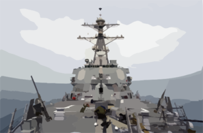 Uss Donald Cook (ddg 75), The First Surface Combatant To Fire Tomahawk Land Attack Missiles (tlam Clip Art