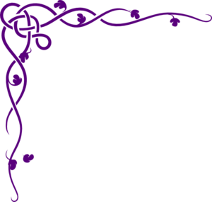 Celtic Vine- Purple Clip Art