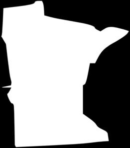 Amazing White Minnesota State Clip Art