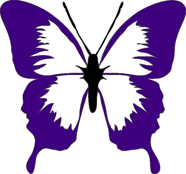 Purple Butterfly Clip Art at Clker.com - vector clip art ...