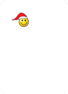 Santa Smiley Clip Art