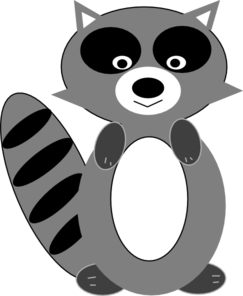 Raccoon Clip Art at Clker.com - vector clip art online ... Raccoon Face Clip Art Black And White