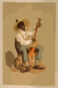 Plantation Banjo Player Clip Art