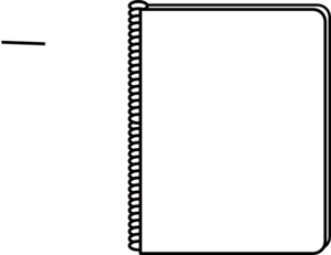 Binder Clipart Black And White