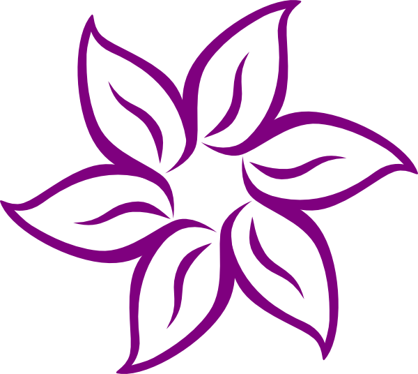 Purple pink flower clip art at clker vector clip art online download this image as mightylinksfo