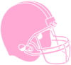 Pink Powder Puff Football Helmet Clip Art