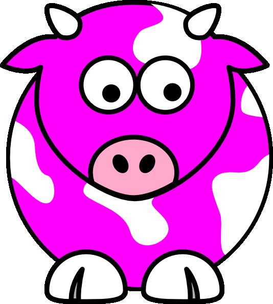Pink Cow Clip Art at Clker.com - vector clip art online, royalty free ...