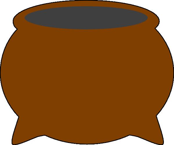 brown pot clip art at clker com vector clip art online royalty rh clker com pot clipart outline only pot clipart black and white