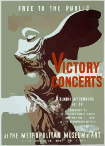 Victory Concerts At The Metropolitan Museum Of Art Free To The Public / Byron Browne. Clip Art