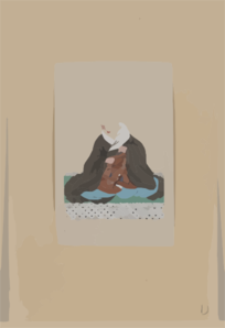 [religious Figure, Probably A Monk, Seated, Facing Slightly Left, Holding A Loop Of Prayer Beads] Clip Art